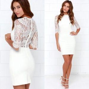 NWT BB Dakota Princeton Ivory Lace Back Dress 372